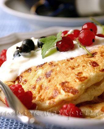 Оладьи с домашним сыром (Cottage Cheese Pancakes)