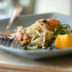 Linguine with Roasted Salmon