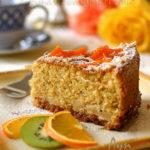 Апельсиново-мацовый кекс с яблоками