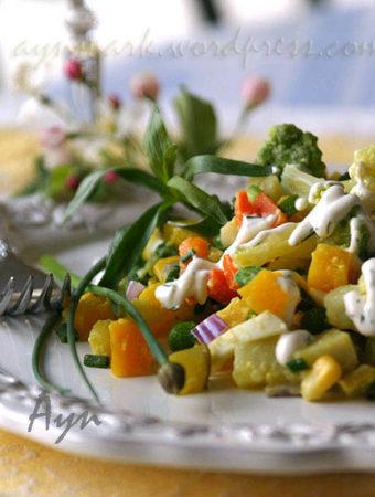 Салат из картофеля и цветной капусты