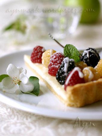 Сметанно-ягодный тарт