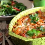 Запечённая паста с овощами